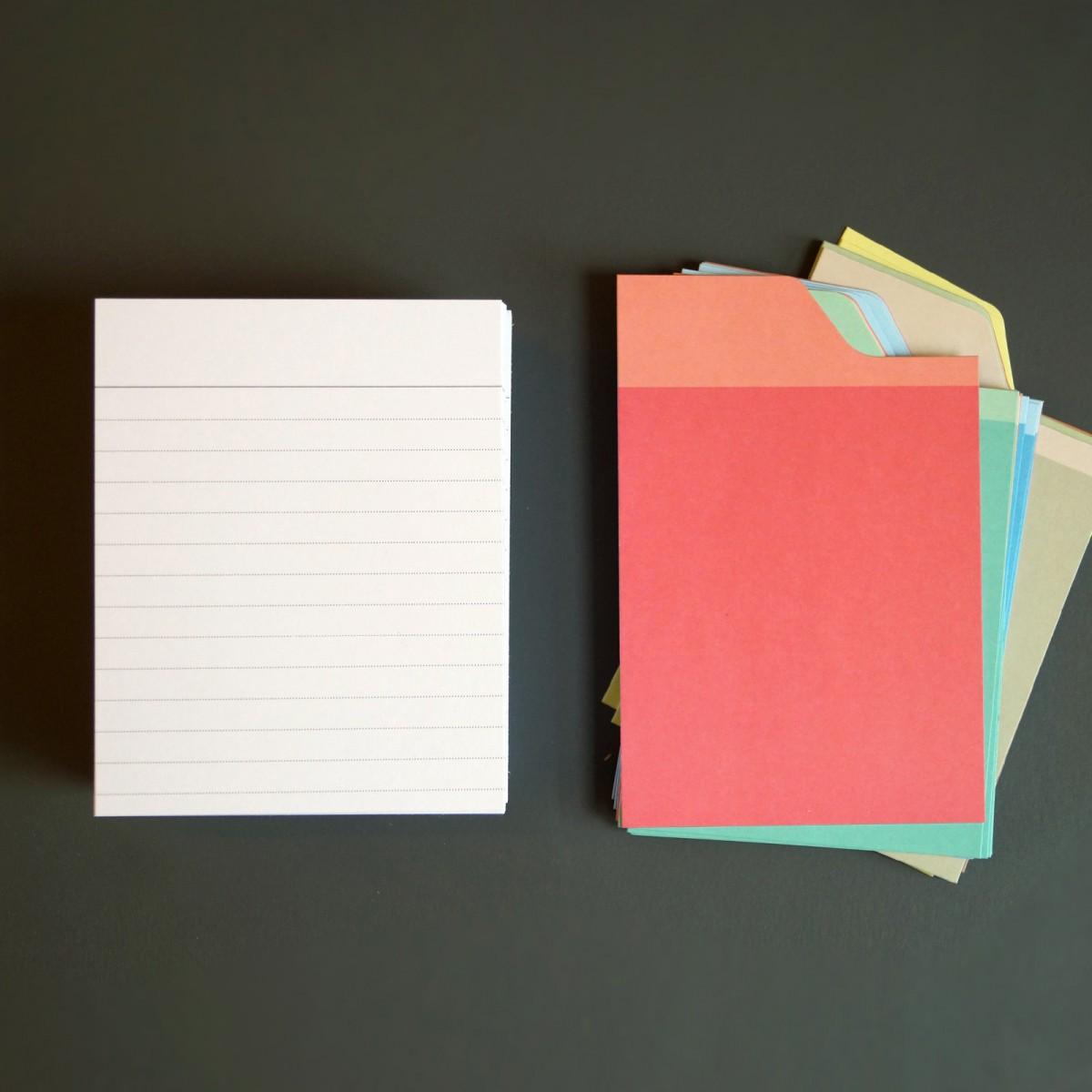 Box mit türkisfarbenem Deckel und Etikettenschild, Sammelbox mit Registern und Blankokarten, Kiste zum Aufbewahren, sperlingb.design