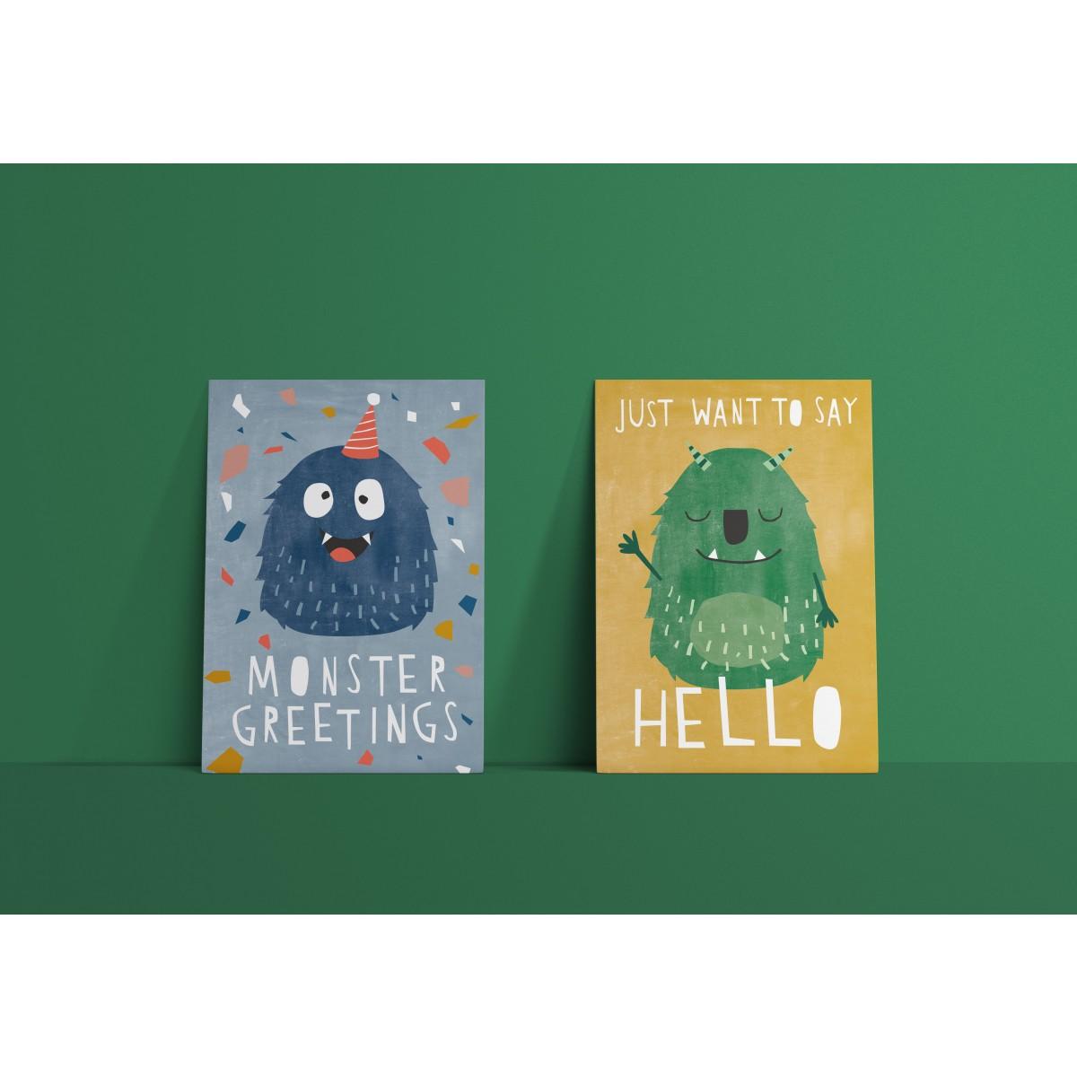 Designfräulein // Postkartenset // Monster Greetings & Hello Monster