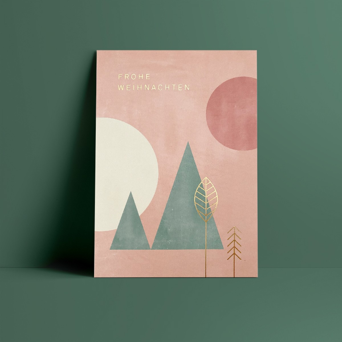 Designfräulein // Weihnachtskarte // Frohe Weihnachten // gold