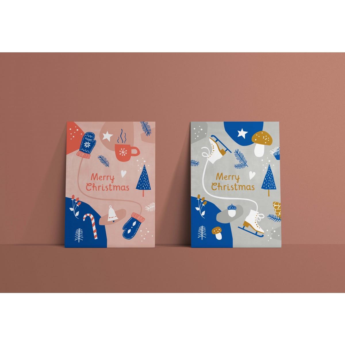 Designfräulein // Postkartenset // Merry Christmas