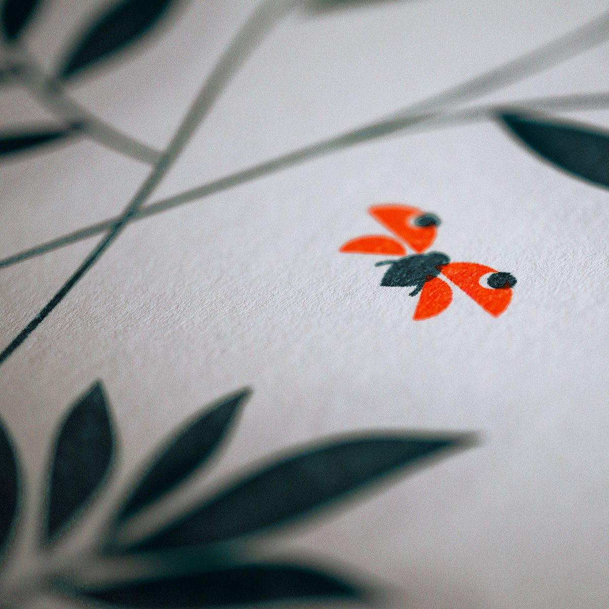 """Geburtstagskalender """"Wild Flower"""" / Risographie Art Print /  immerwährender / neon-orange"""