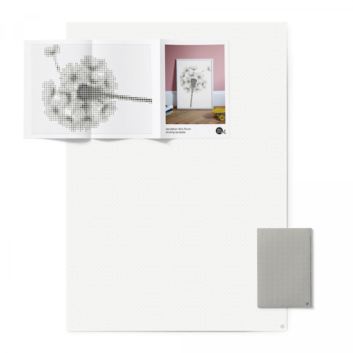 dot on art / dandelion – DIY-Kunstwerk zum Selberkleben / 50x70 cm