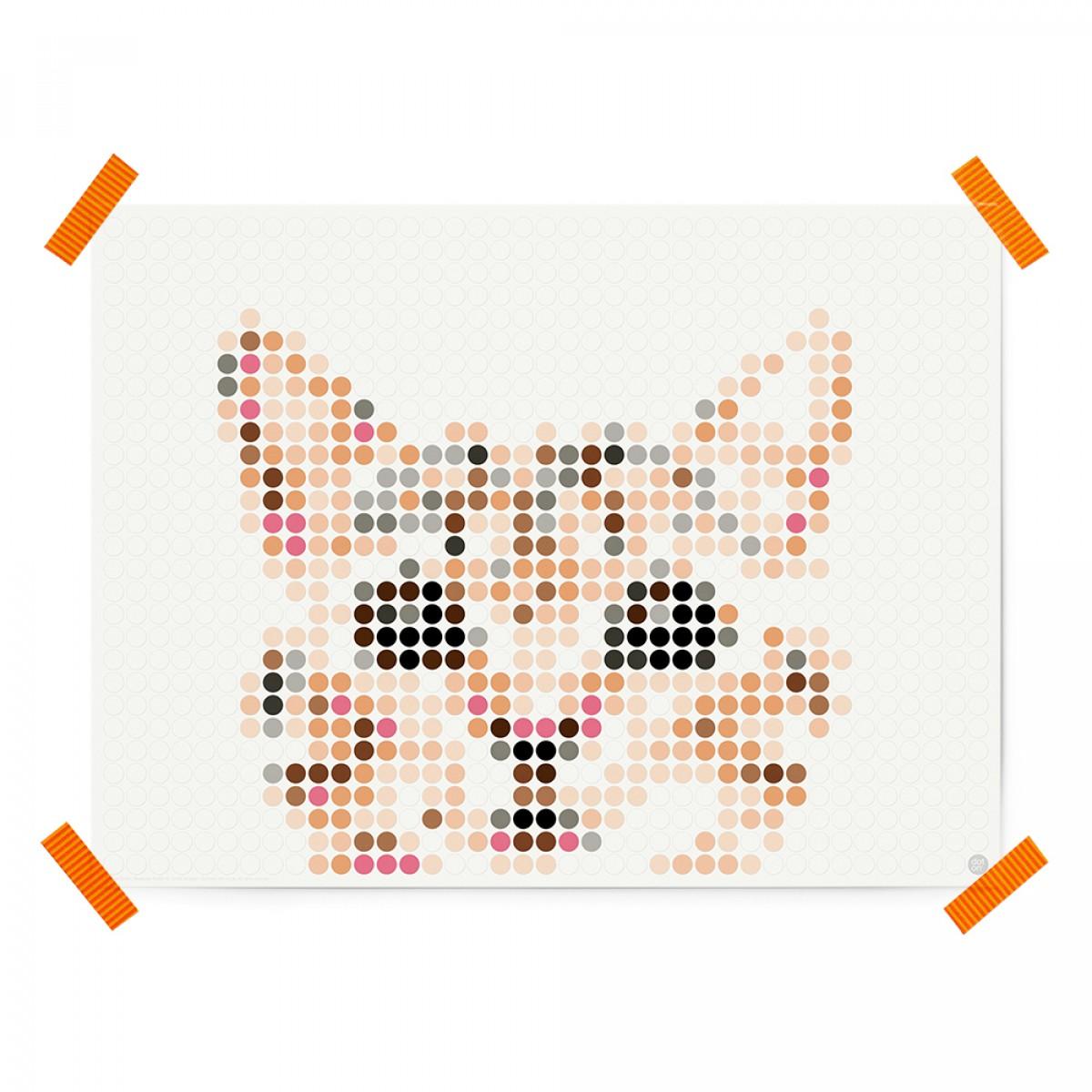 dot on art / cat – DIY-Kunstwerk zum Selberkleben / 30x40 cm