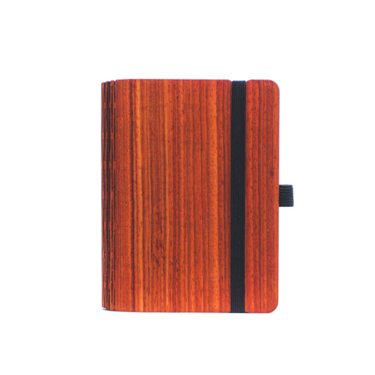 JUNGHOLZ Design Notizbuch, WoodBook, Padouk, A6