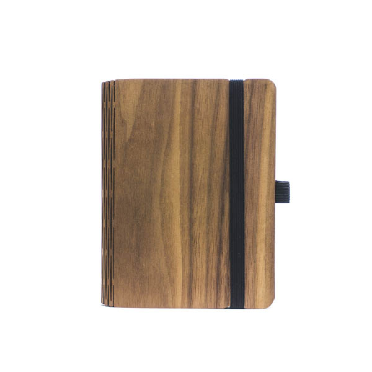 JUNGHOLZ Design Notizbuch, WoodBook, Walnuss, A6