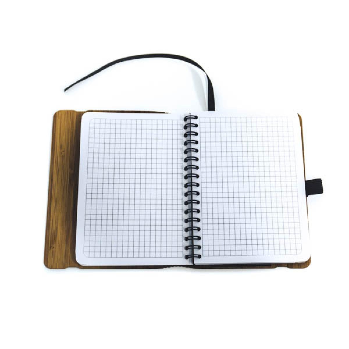 JUNGHOLZ Design Notizbuch, WoodBook, Bambus, A6