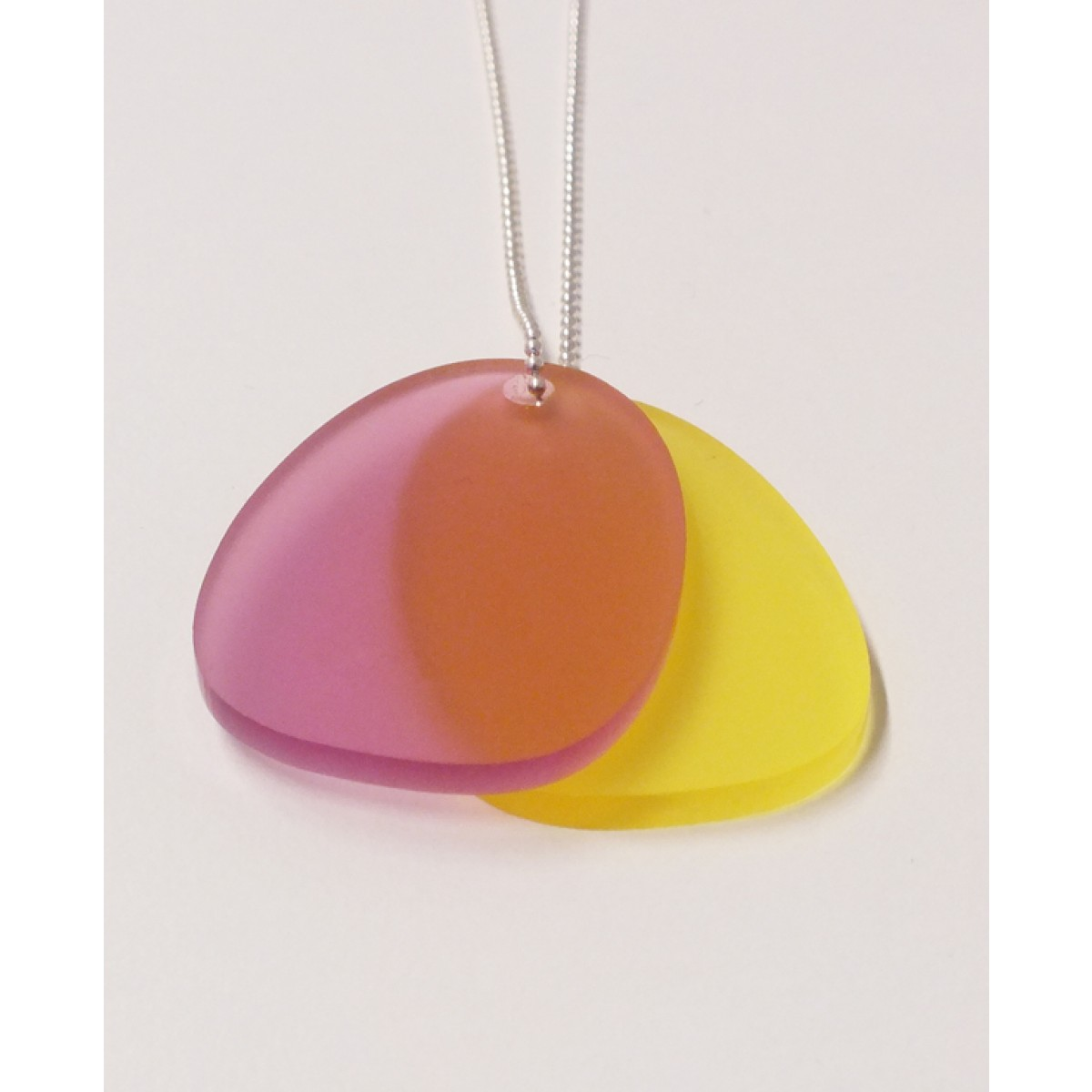 theobalt.design TAG necklace pink/yellow