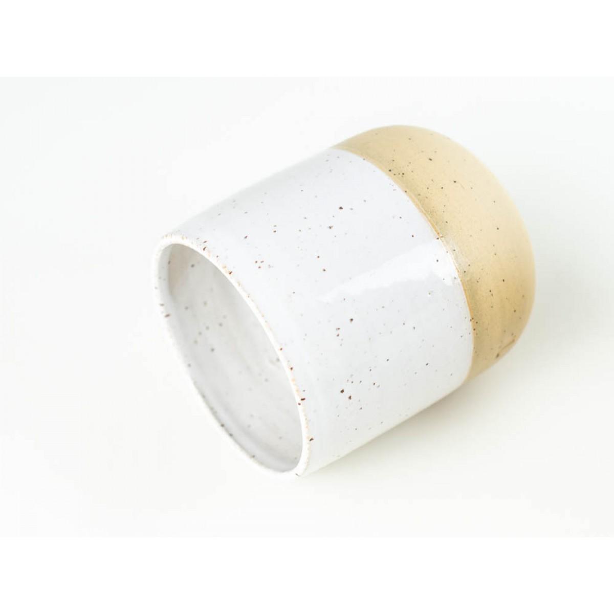 NOTON Keramik // Becher Weiß Beige