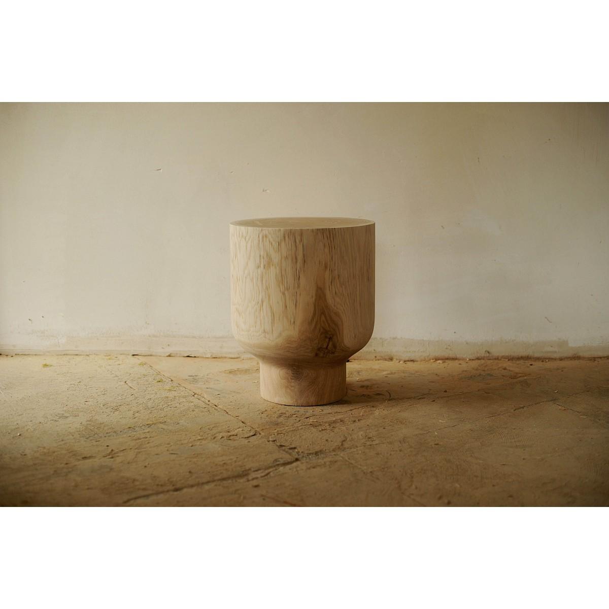 OnePieceWood - Nachttisch/Couchtisch, massive Eiche, 36x41cm