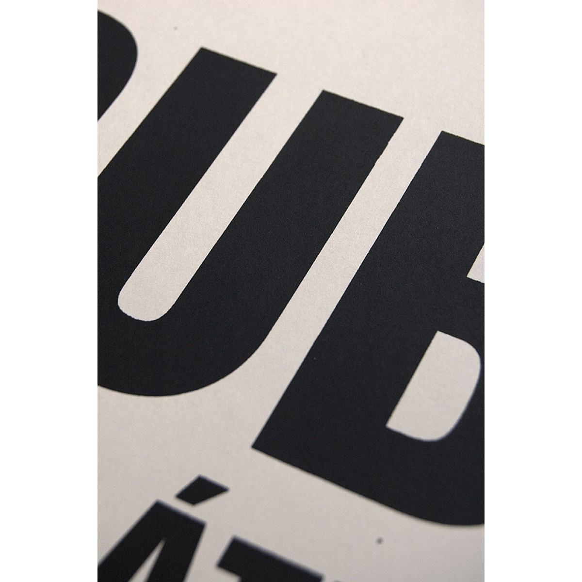 Buchstabenort Dublin Stadtteile-Poster Typografie