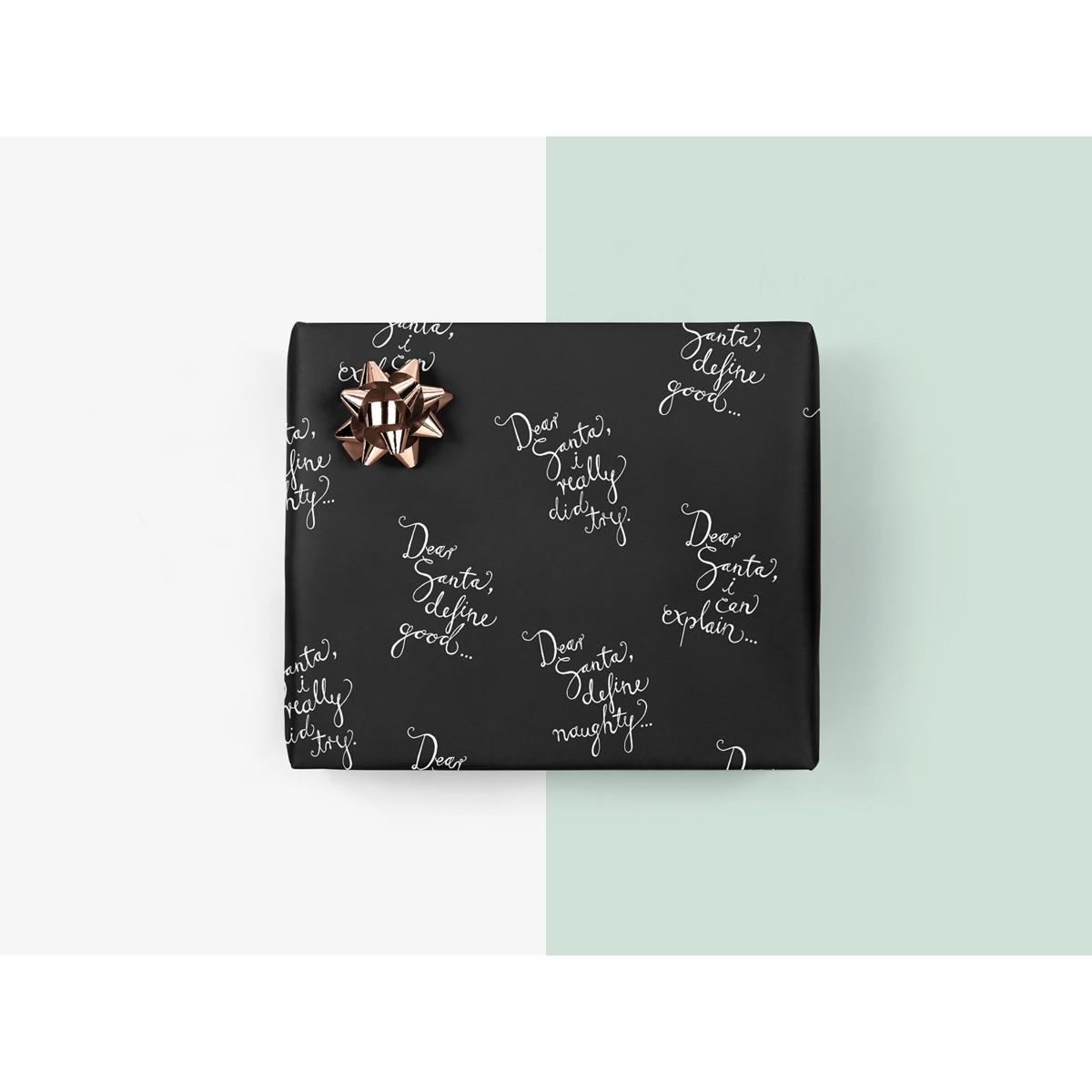 5x Geschenkpapier / Dear Santa (gefaltet)