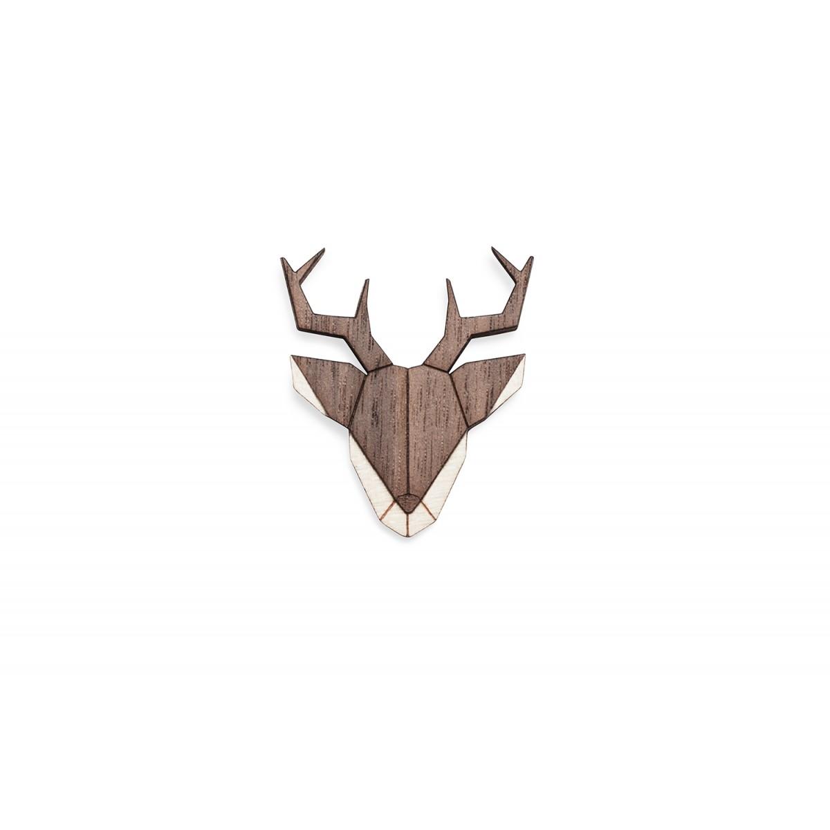 Deer Brooch von BeWooden