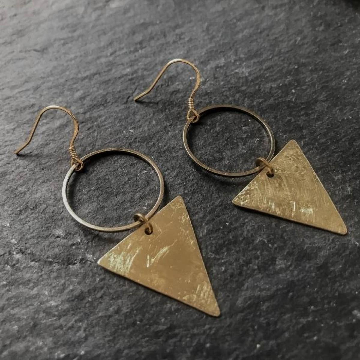 IDA PING Jewelry EASY // EARRINGS TRIANGLE