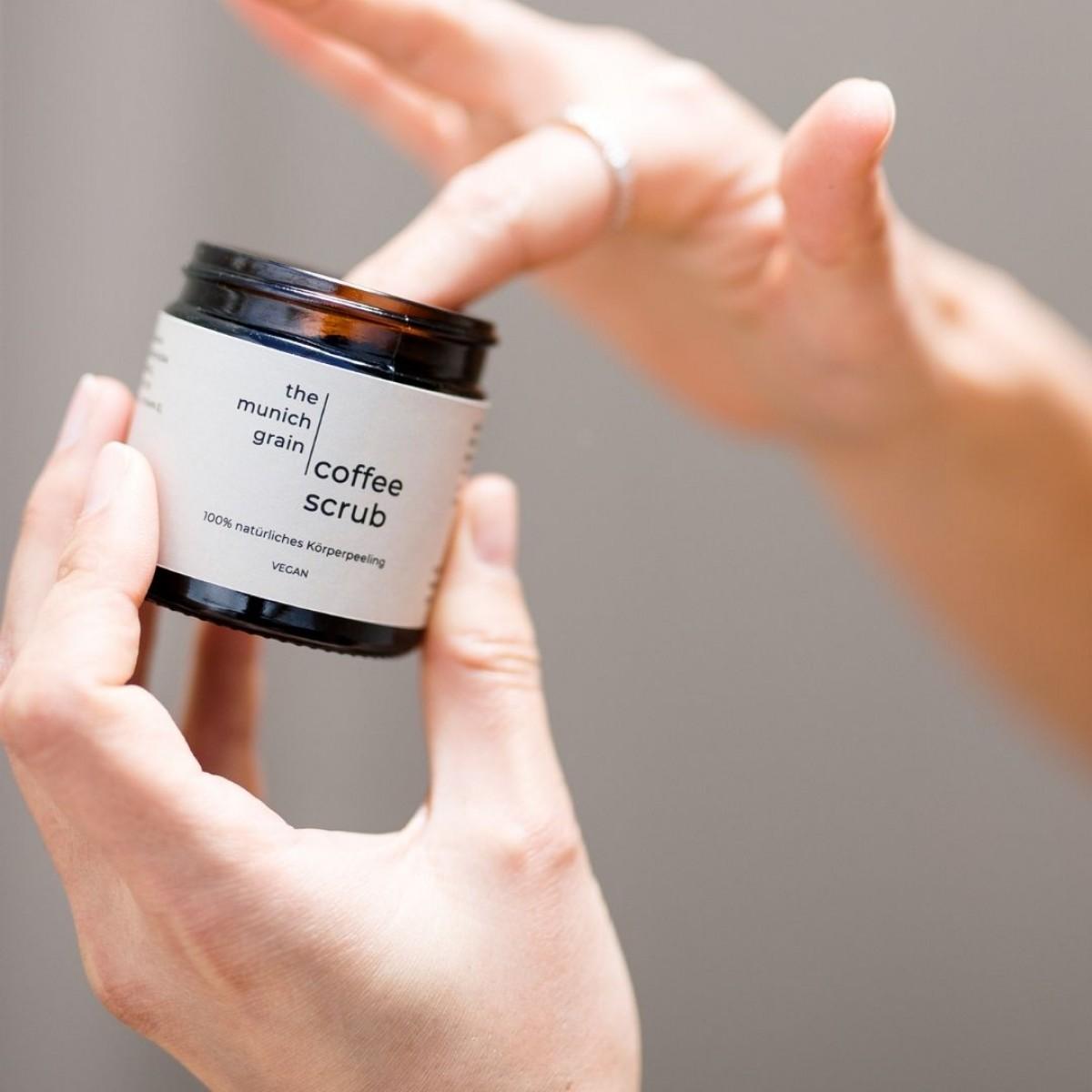 Coffee Scrub (veganes Kaffee-Peeling) von the munich grain (120ml)