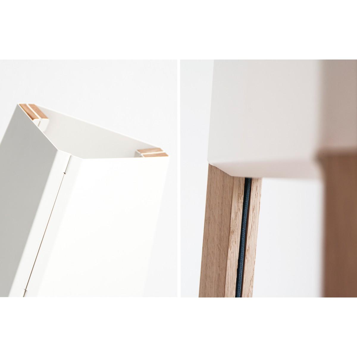 soform design Stehleuchte La3b 90 cm weiß