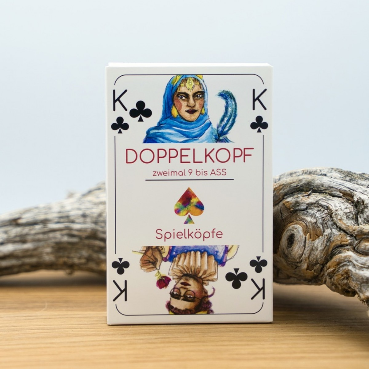 Spielköpfe Spielkarten Geschenke-Set: Doppelkopf