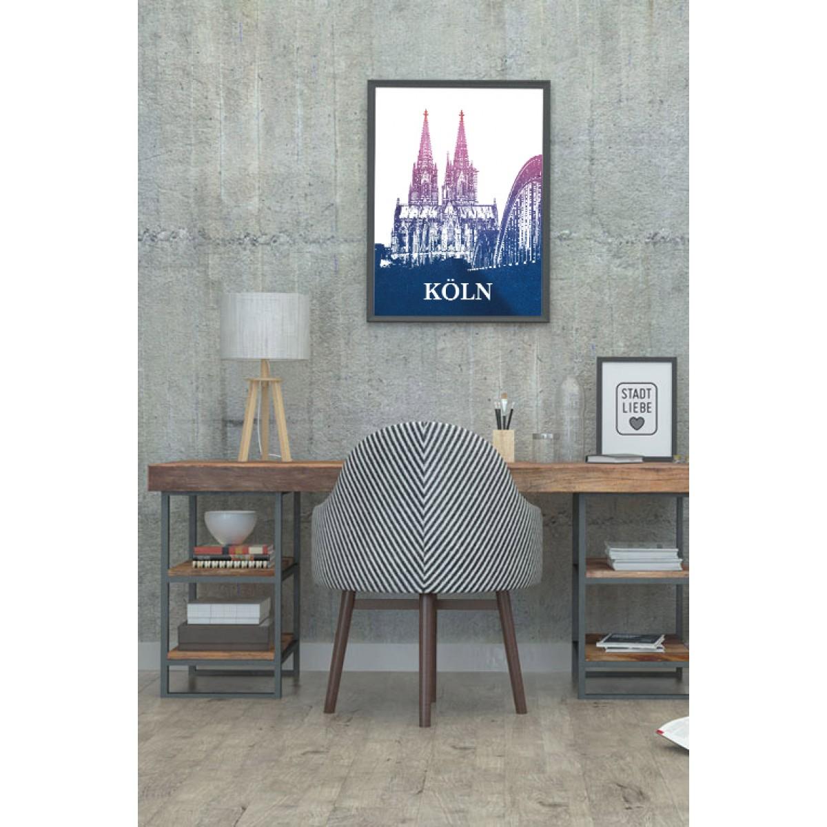 Stadtliebe® | Köln - Kölner Dom Kunstdruck verschiedene Größen DIN A2