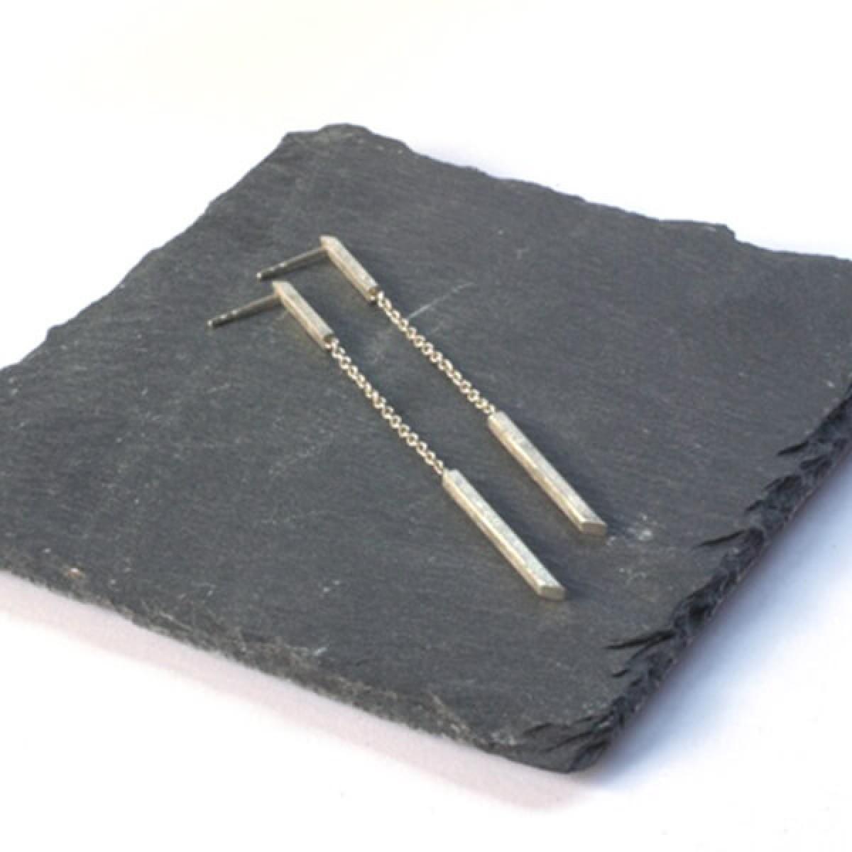 """DOPPELLUDWIG Ohrringe """"AUFGEHÄNGT"""" aus 925/- Silber"""