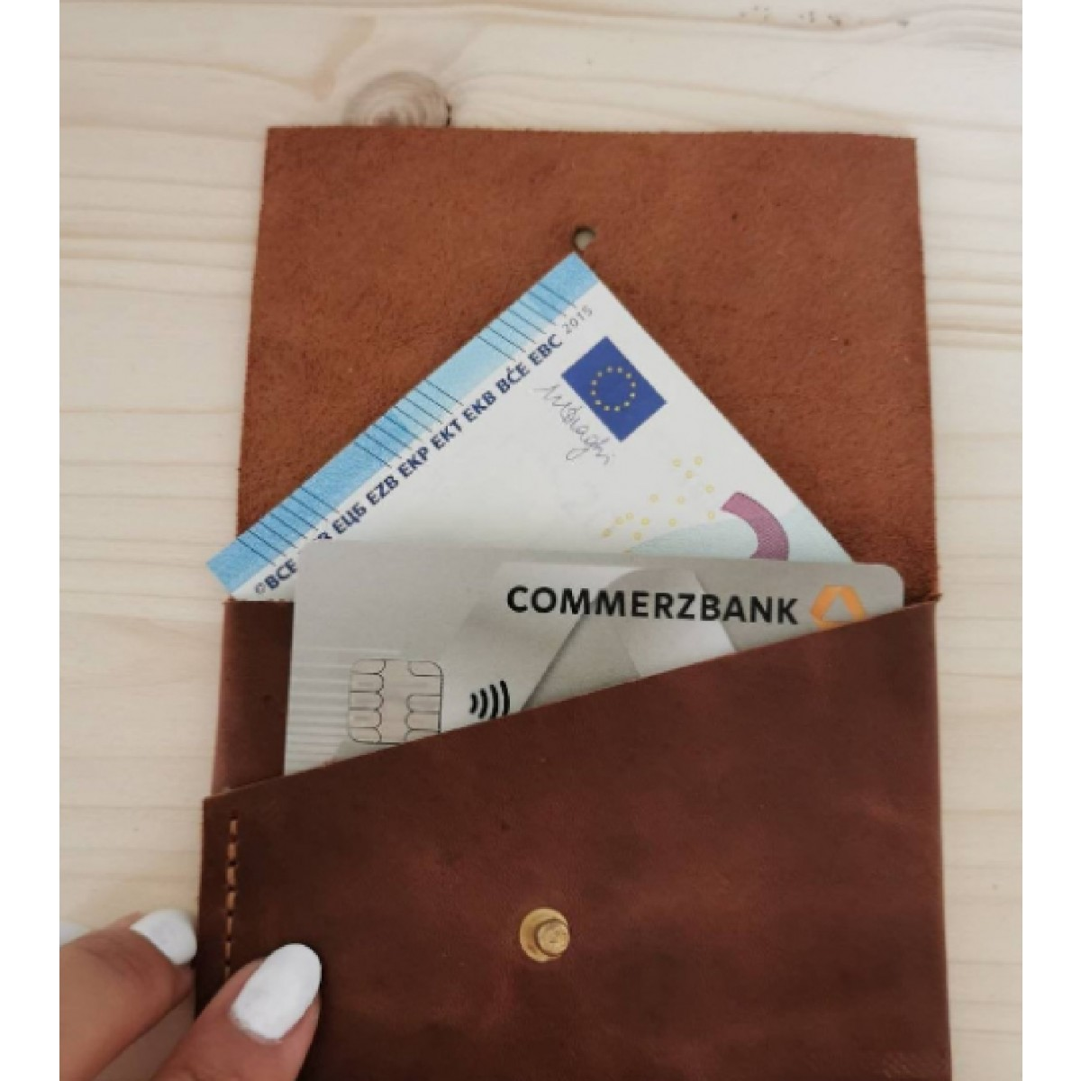 BSaite / Mini Leder Portemonnaie / kleine Leder Geldbörse / Leder Kartenetui / Unisex