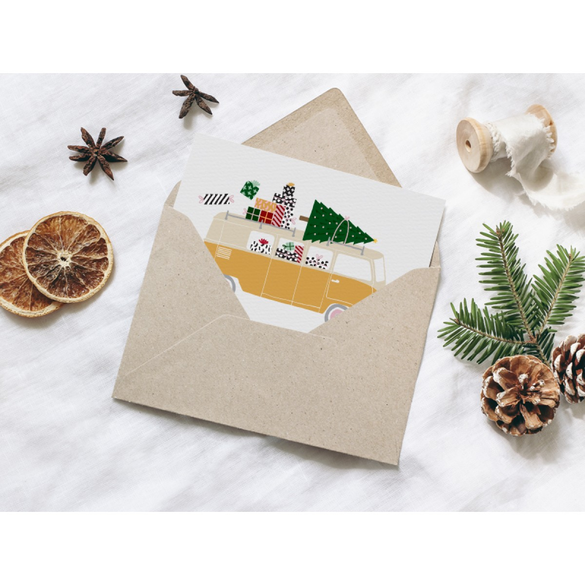 typealive / Weihnachtskarten 4er Set / Driving Home No. 2