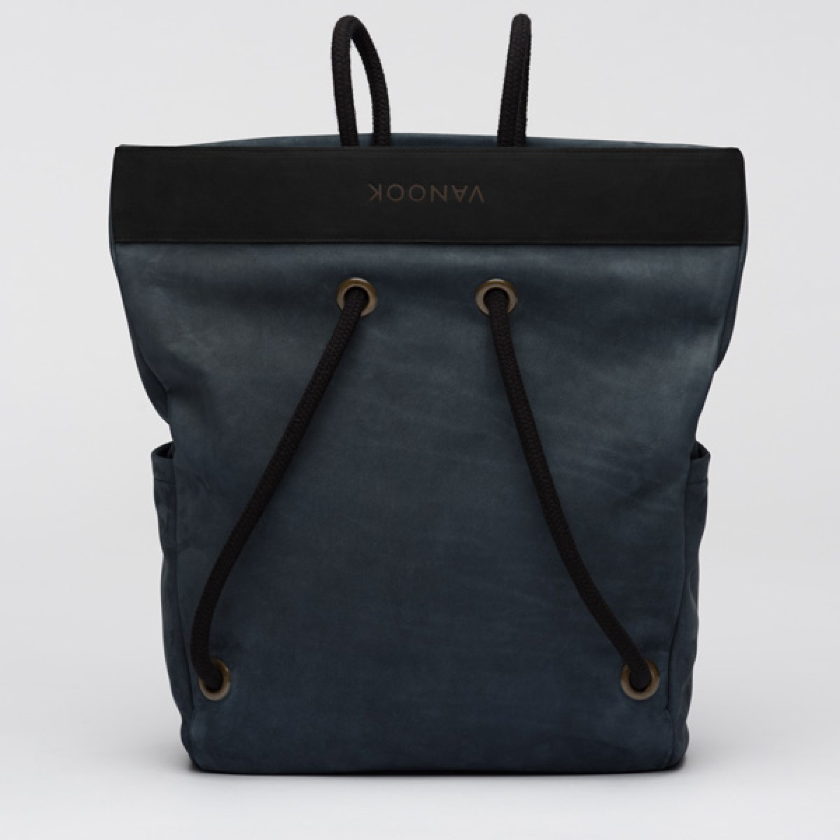 VANOOK - Dual Backpack Leather Navy