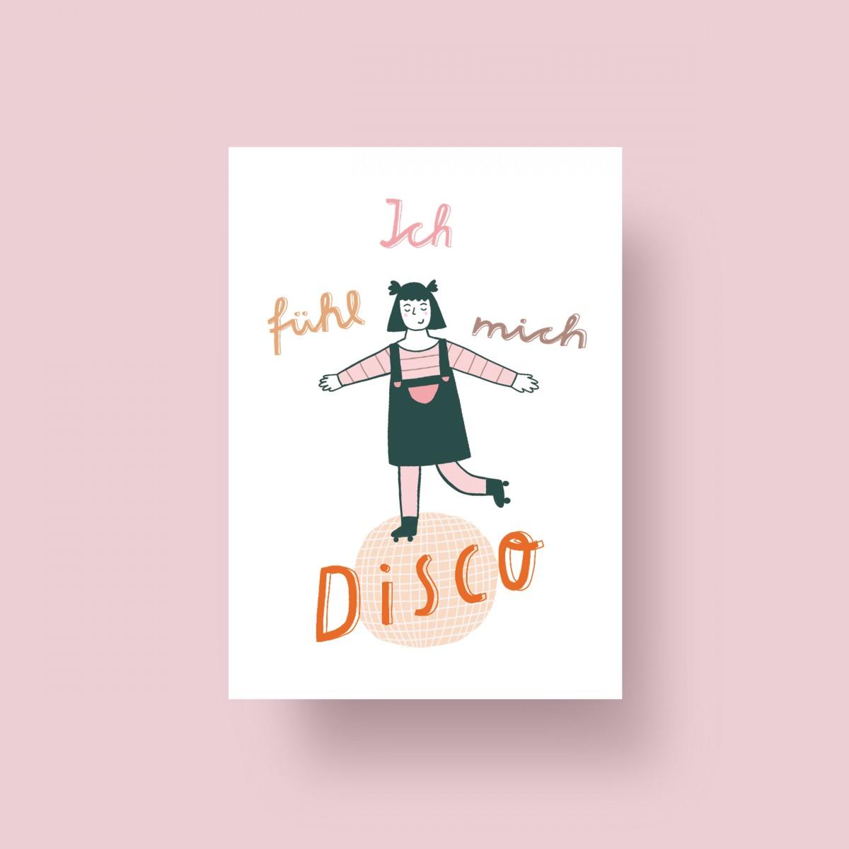 """Notietzblock Postkarte """"Ich fühl mich Disco"""", A6"""
