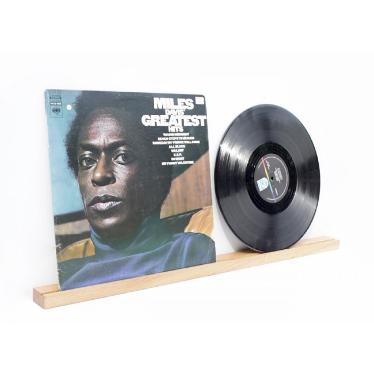 Schallplattencover Regalleiste (für zwei Schallplatten) aus Eiche /