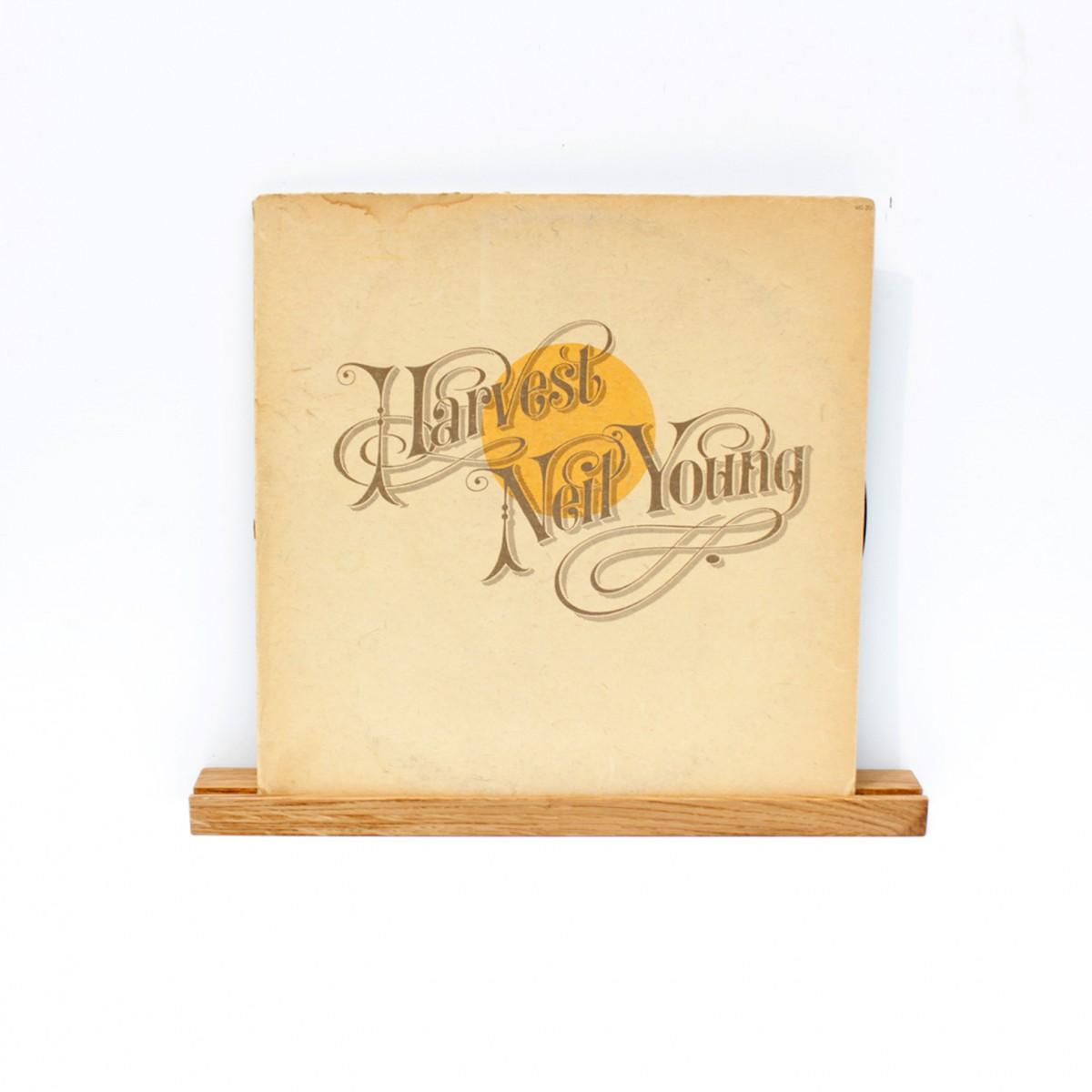 Wandregal, Schallplattencover Regalleiste aus Eiche / VLO design