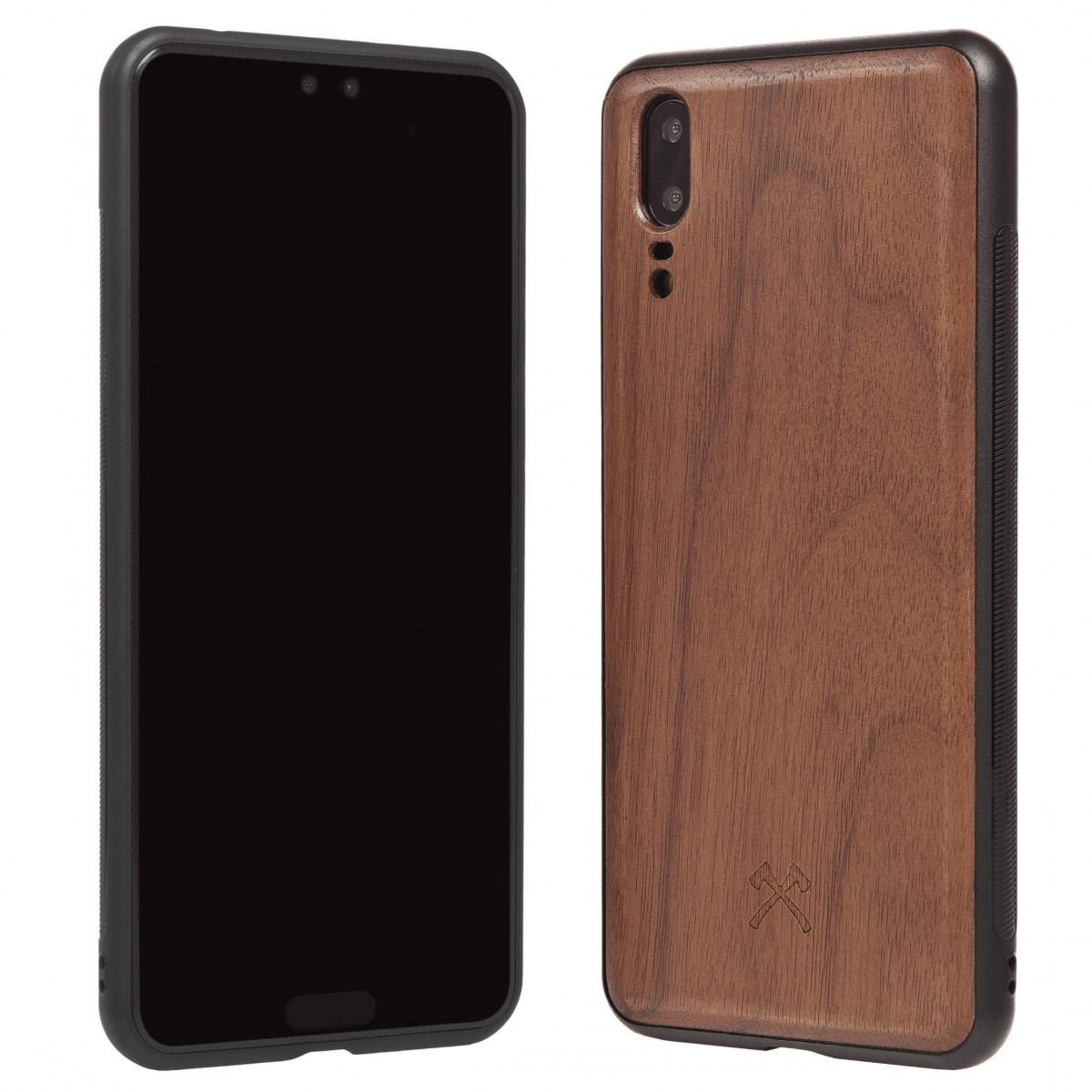 Woodcessories - EcoBump - Premium Design Hülle, Case, Cover, Schutzhülle für das Smartphone aus FSC zertifiziertem Walnuss Holz (Huawei P20)