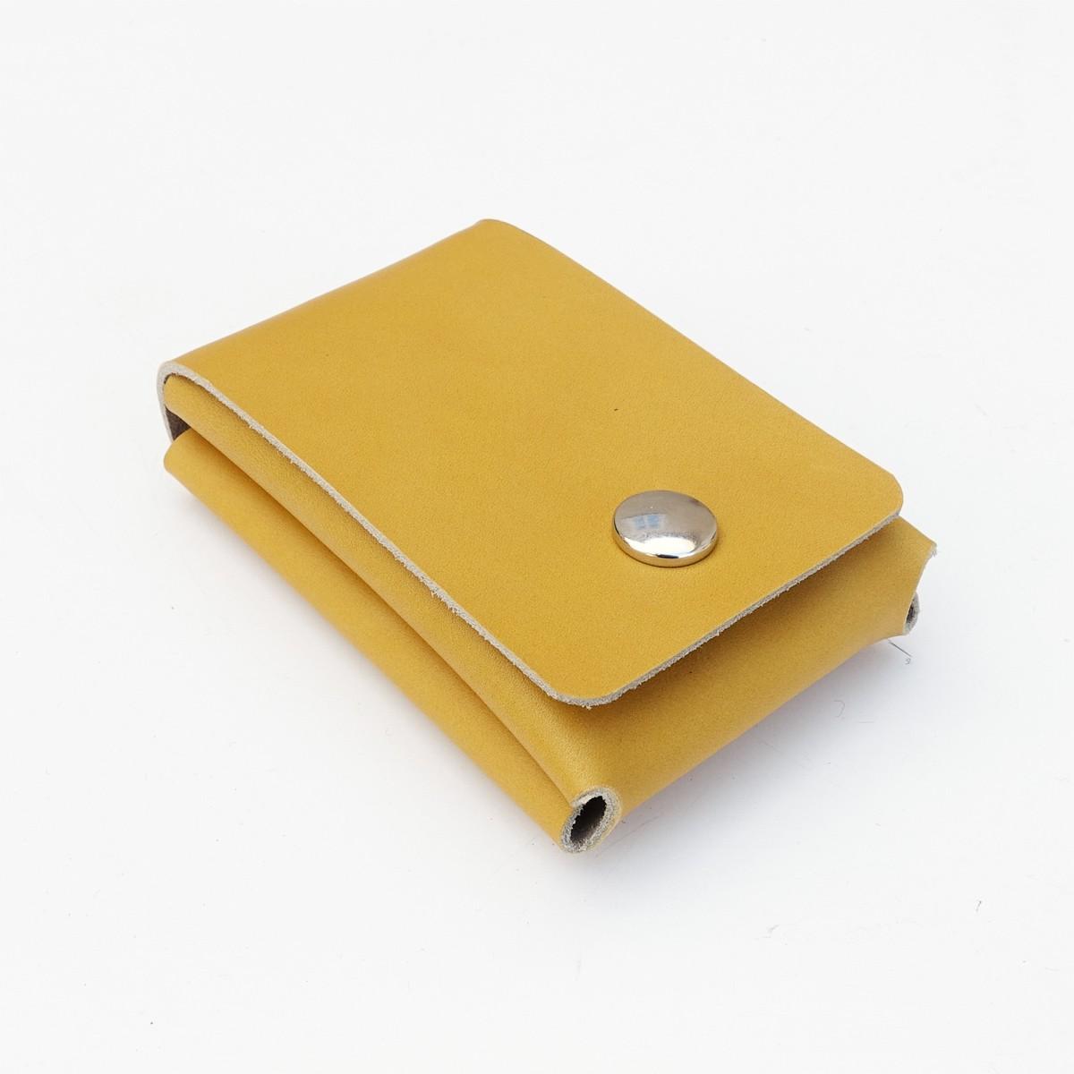 EINFACHDESIGN, Geldbörse mini, Gelbeutel, Slimwallet,Leder, handgenäht, viele Farben