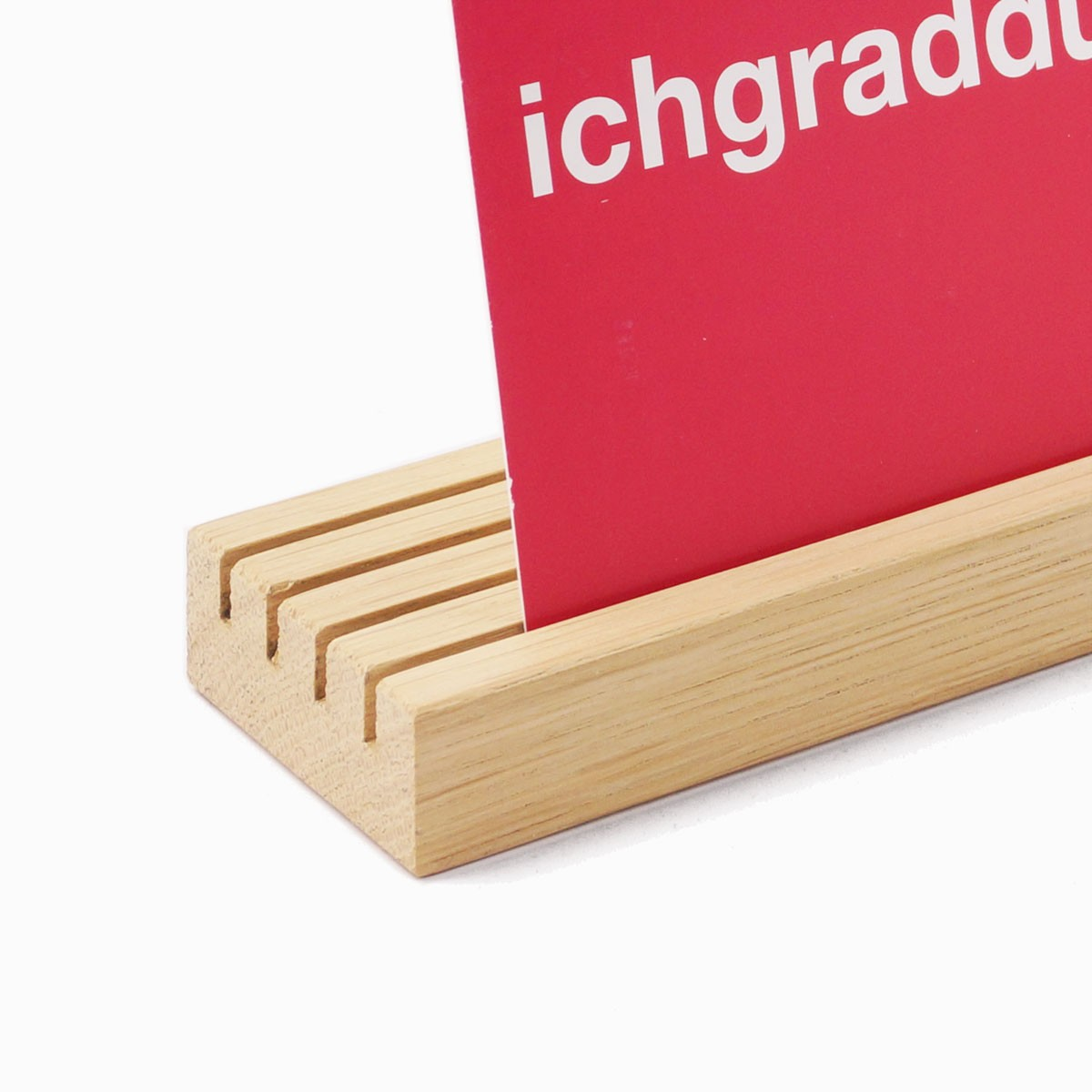 EINFACHDESIGN, Kartenhalter, Kartenbank Eiche L=30 cm