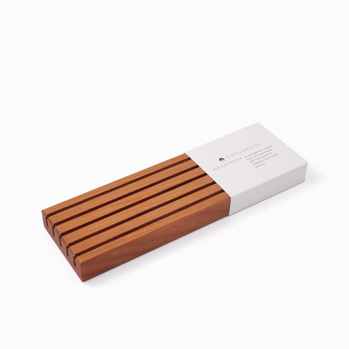 EINFACHDESIGN, Kartenhalter Kartenbank, Kirschbaum L=19 cm