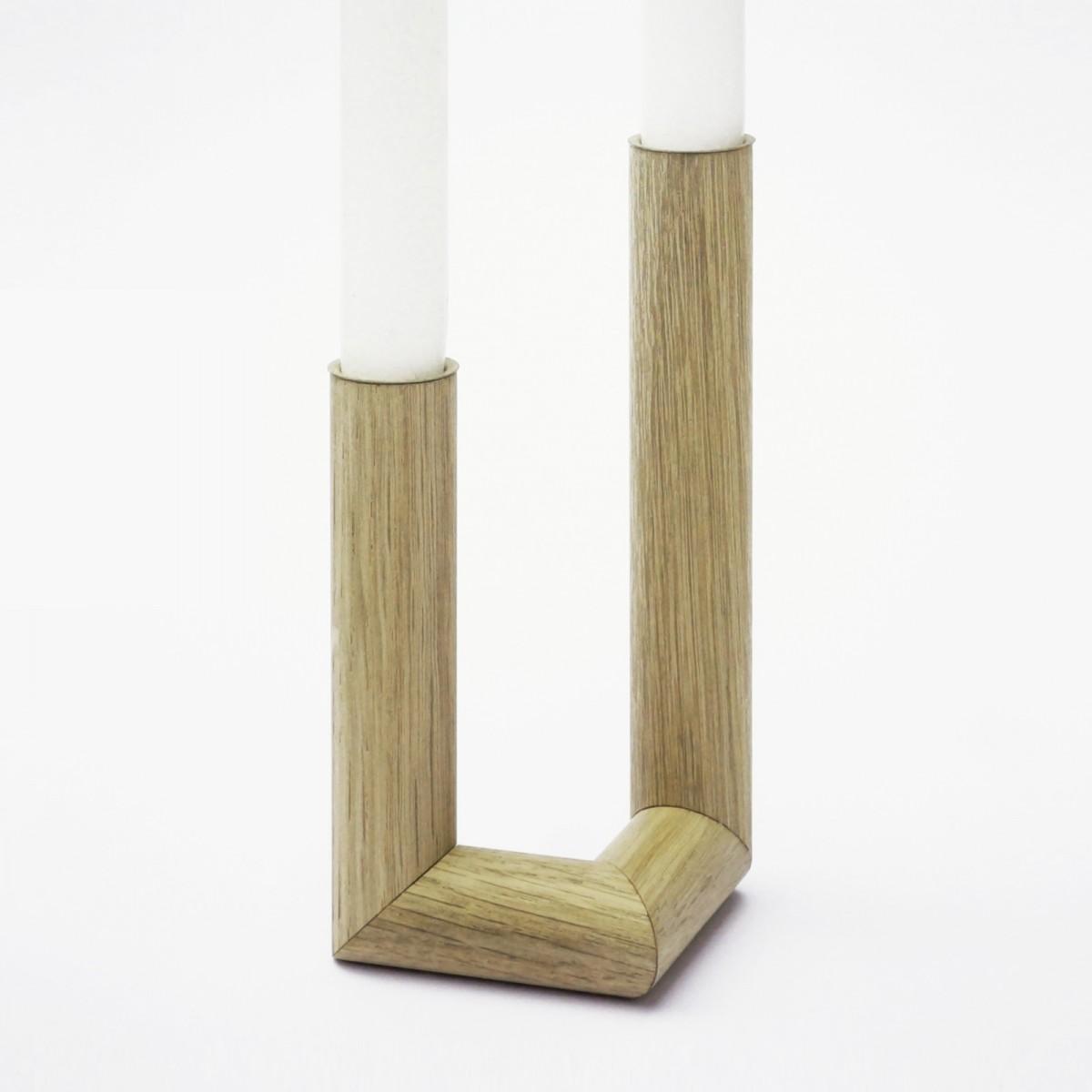 EINFACHDESIGN Kerzenständer, Kerzenhalter Eiche