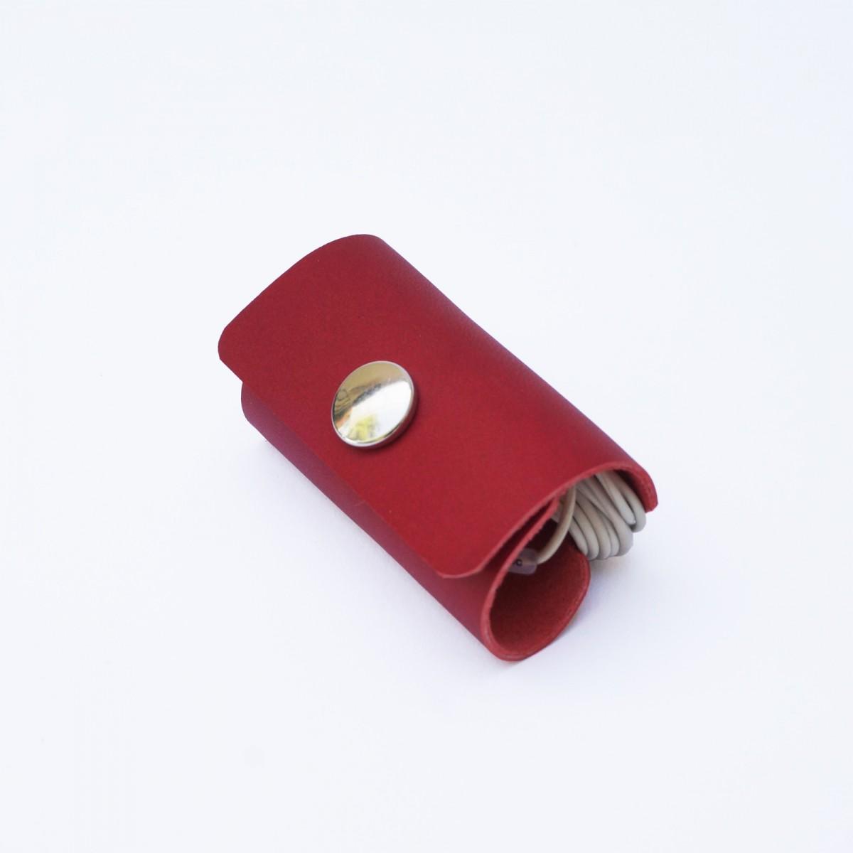 Kopfhörer Headset Organizer, Kopfhörertasche, Leder Rot Tasche Leder Rot