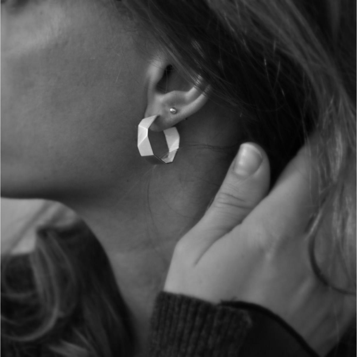 """Ohrringe """"Eingekreist"""" aus 925/- Silber von Doppelludwig"""