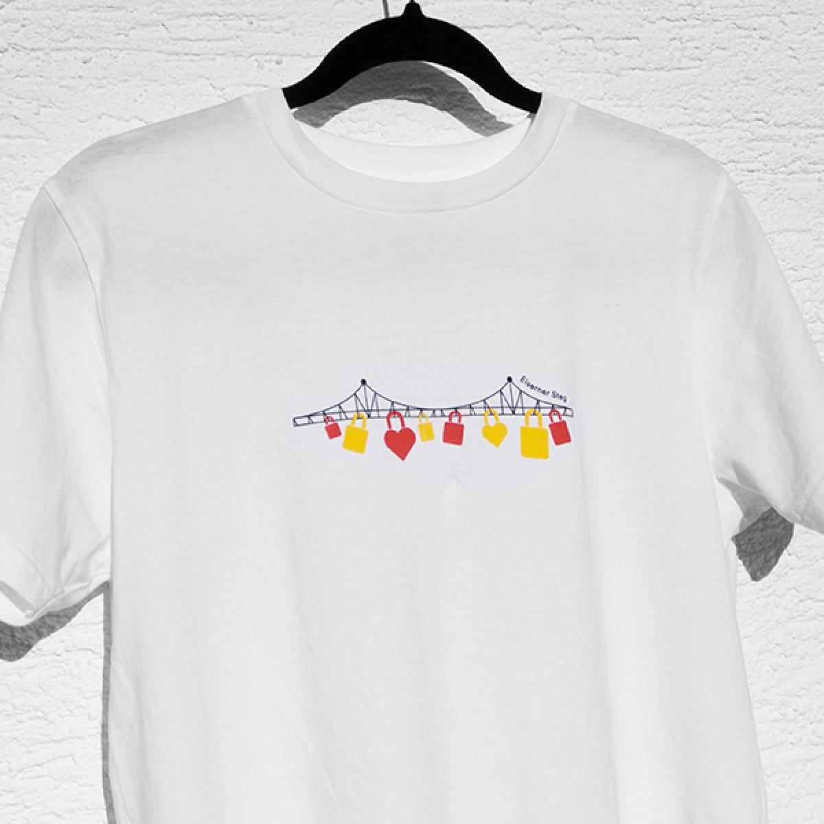 Copyright Frankfurt Eiserner Steg T-Shirt, Unisex, 100% Bio-Baumwolle