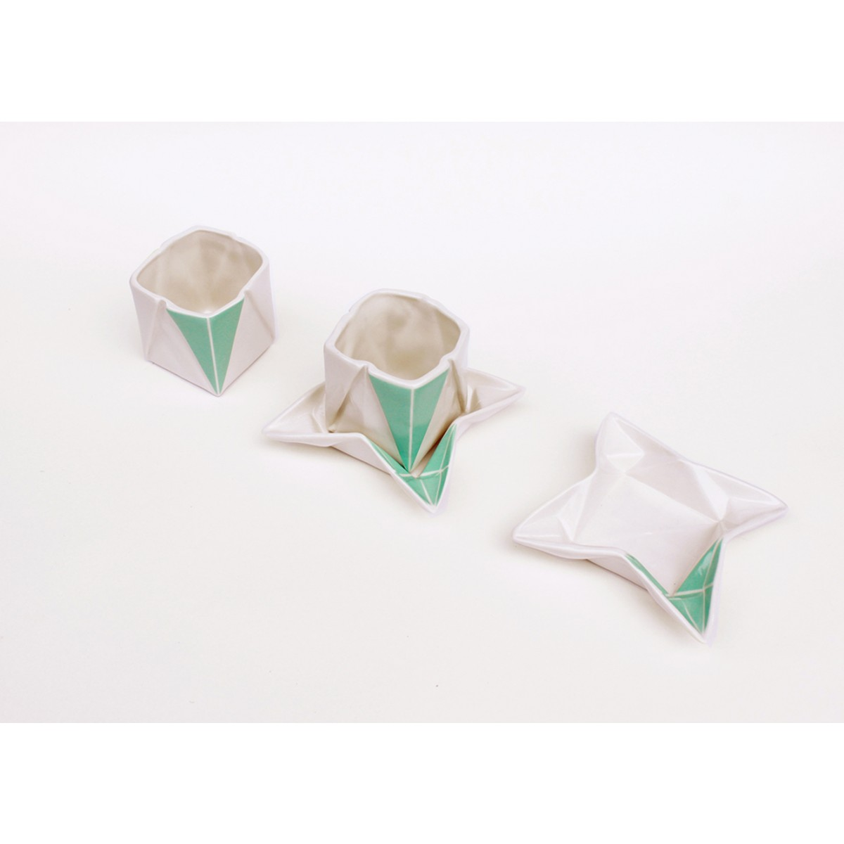 moij design Origami Espressotasse farbig