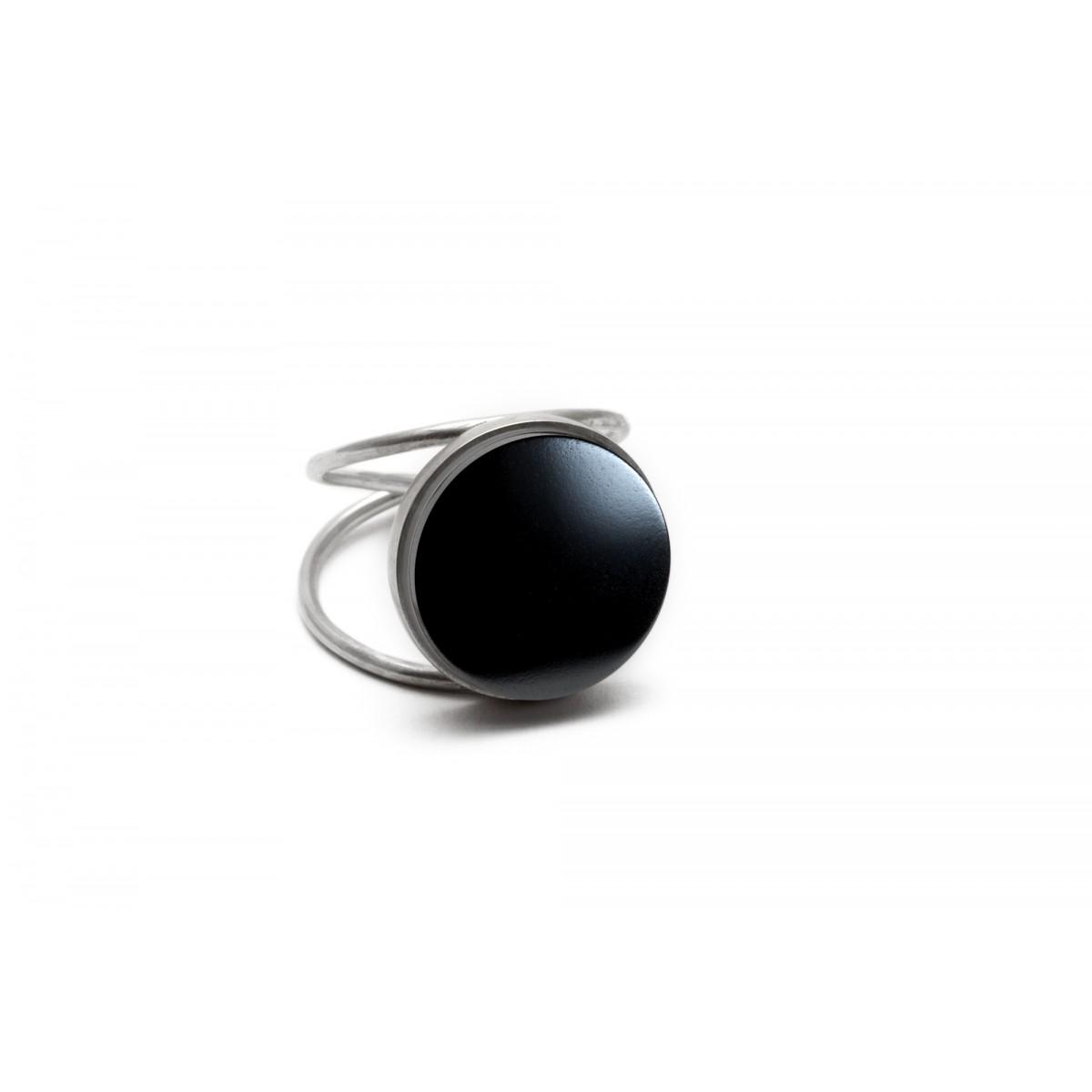 "Eva Slotta Jewellery ""Tint Deep"" Ring mit schwarzem Hämatit, 925 Silber"