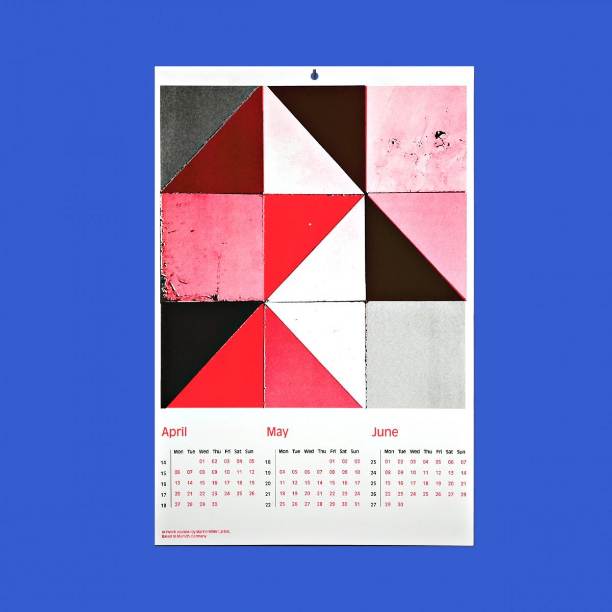 EVERYDAY ORNAMENTS Design 3-Monats Kalender 2020/ 4 Kunstdrucke von internationalen Künstlern/ DIN A3 Siebdruck-Stil in leuchtenden Farben