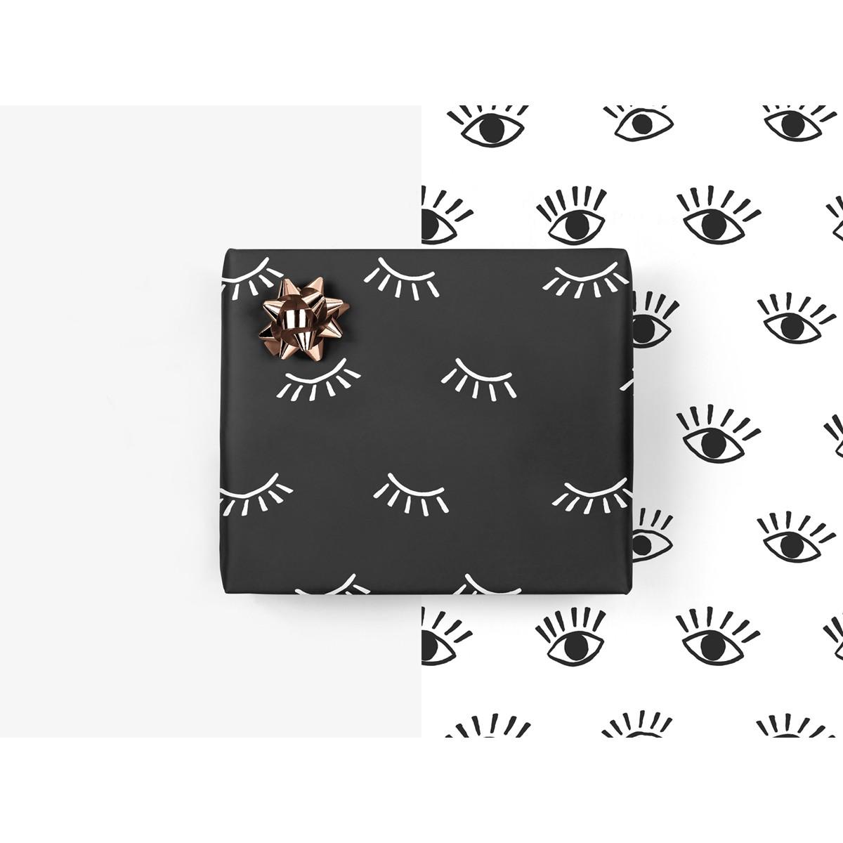 5x Geschenkpapier / Eyes (gefaltet)