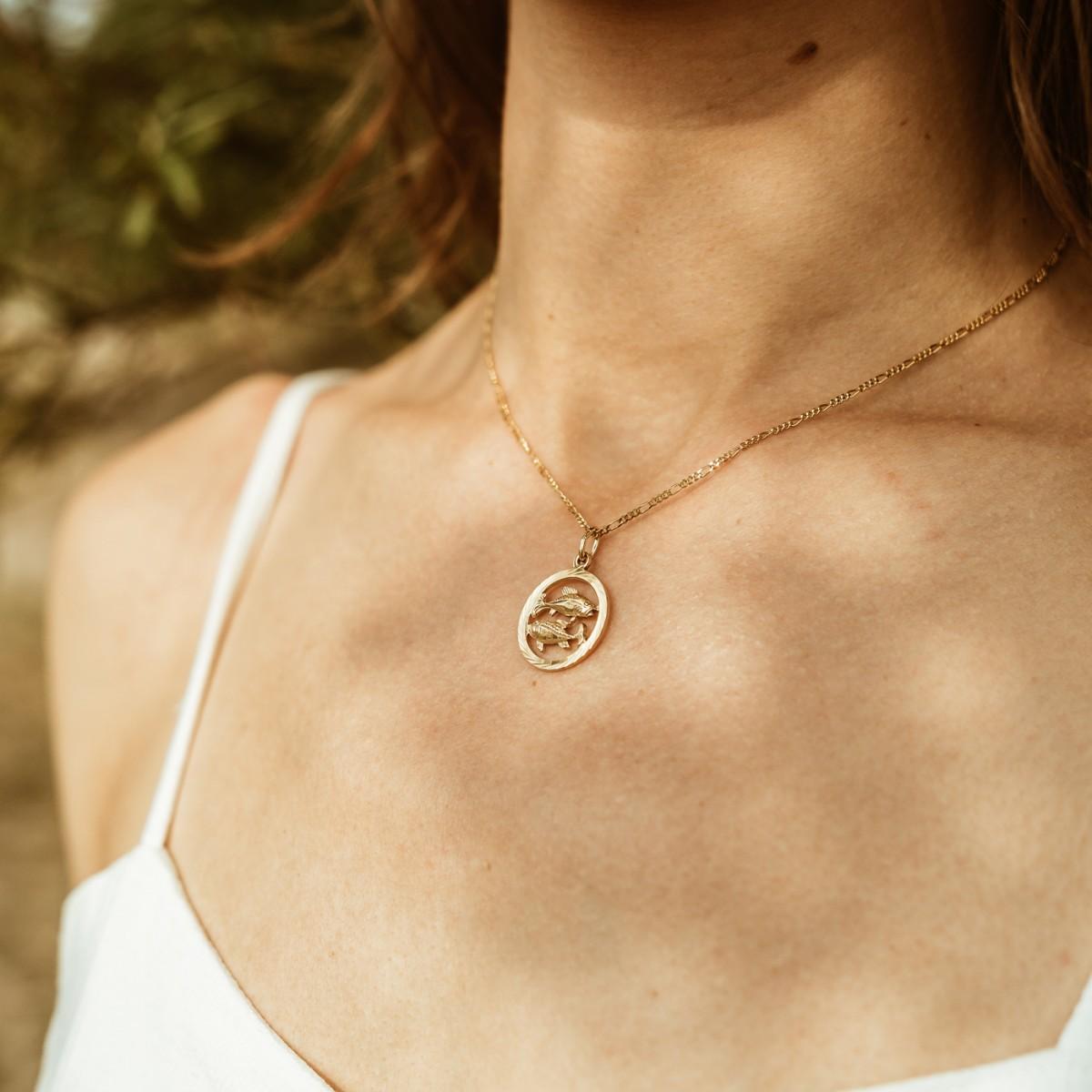 ST'ATOUR PISCES // FISCHE – Sternzeichenkette in Gold, Silber oder Roségold