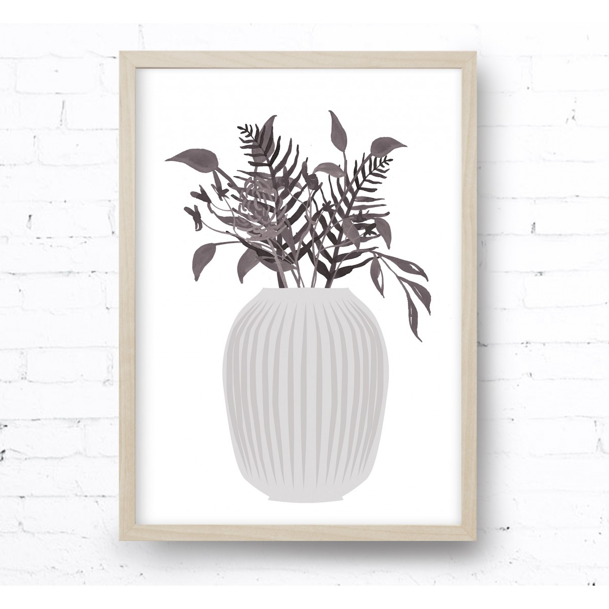 Kruth Design POSTER / GREY BOUQUET