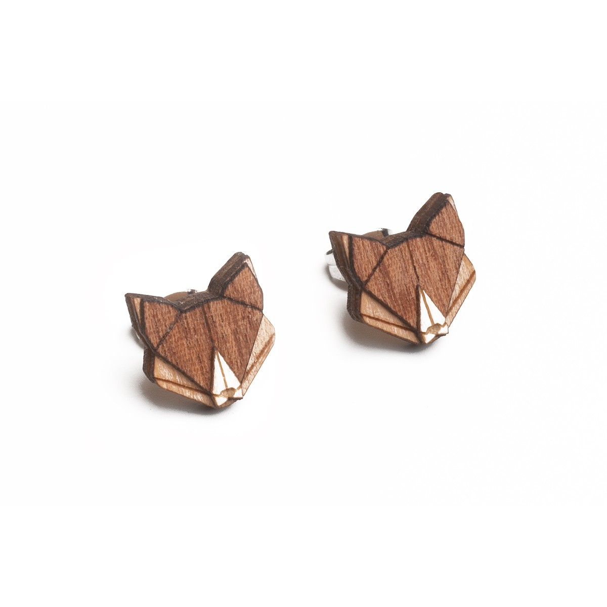 BeWooden Ohrstecker - Ohringe aus Holz - Fox Earrings