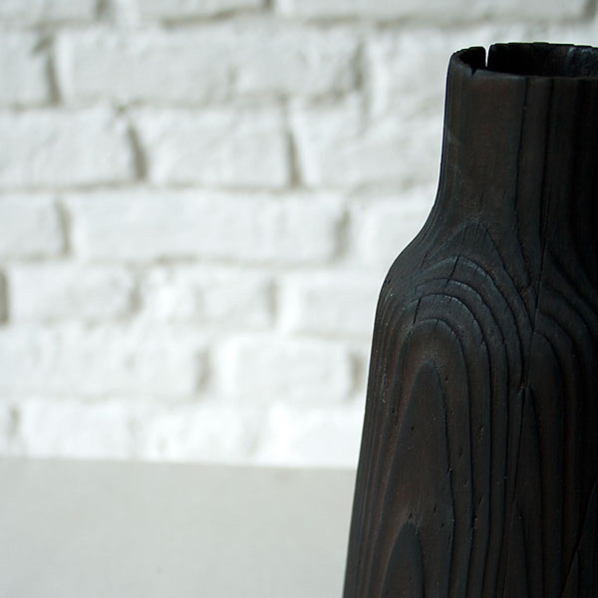 zita products - FREYA FLAMBÉE Holzvase