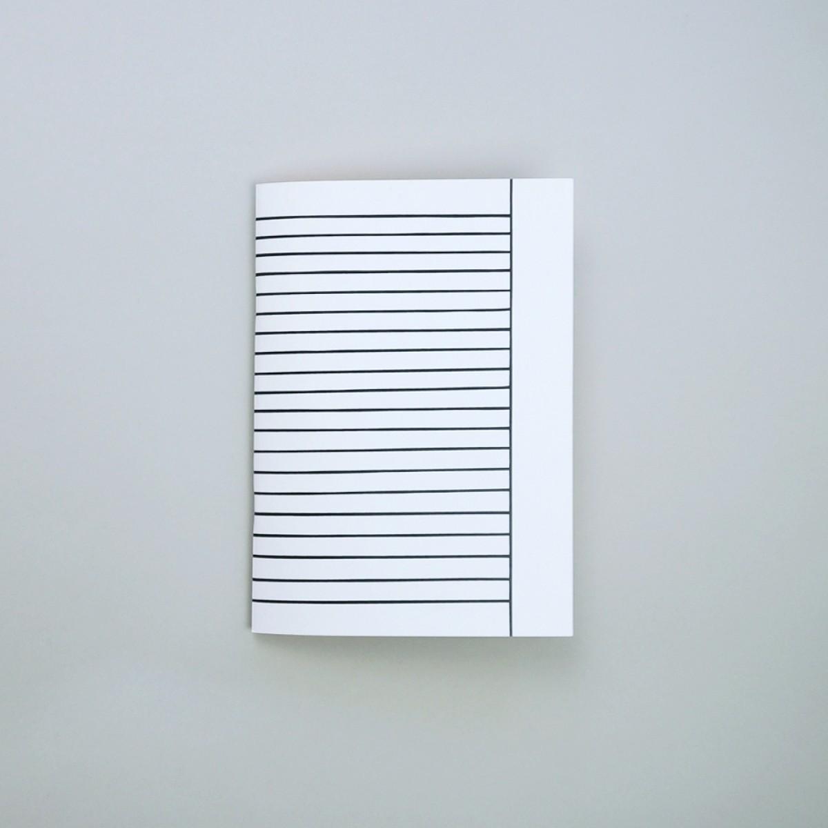 (Schul-)Heft inside/out . Modell: liniert mit Rand . mit bunten Seiten