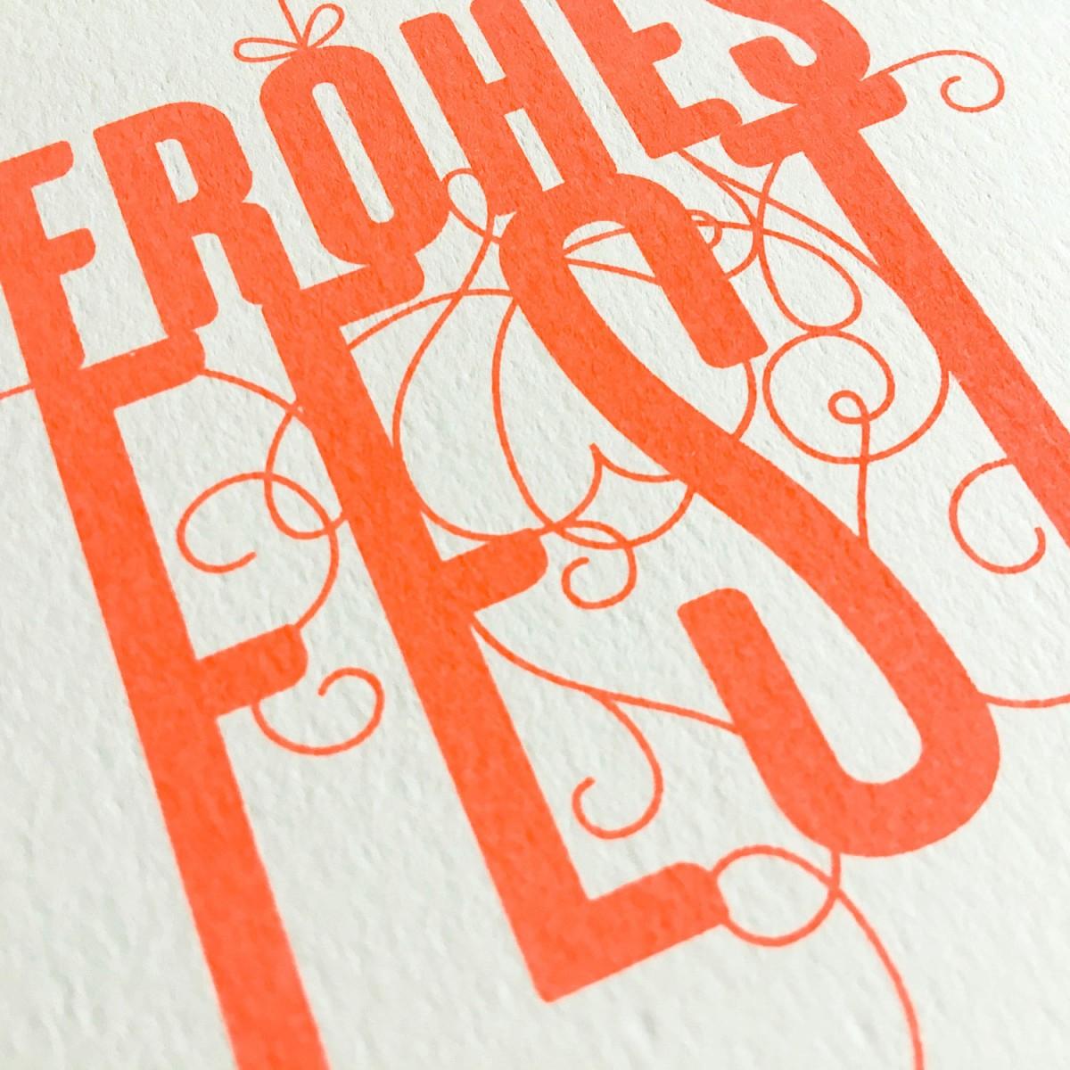 Feingeladen // FANCY TYPE // Frohes Fest (FO) // RISO-Klappkarte, A6