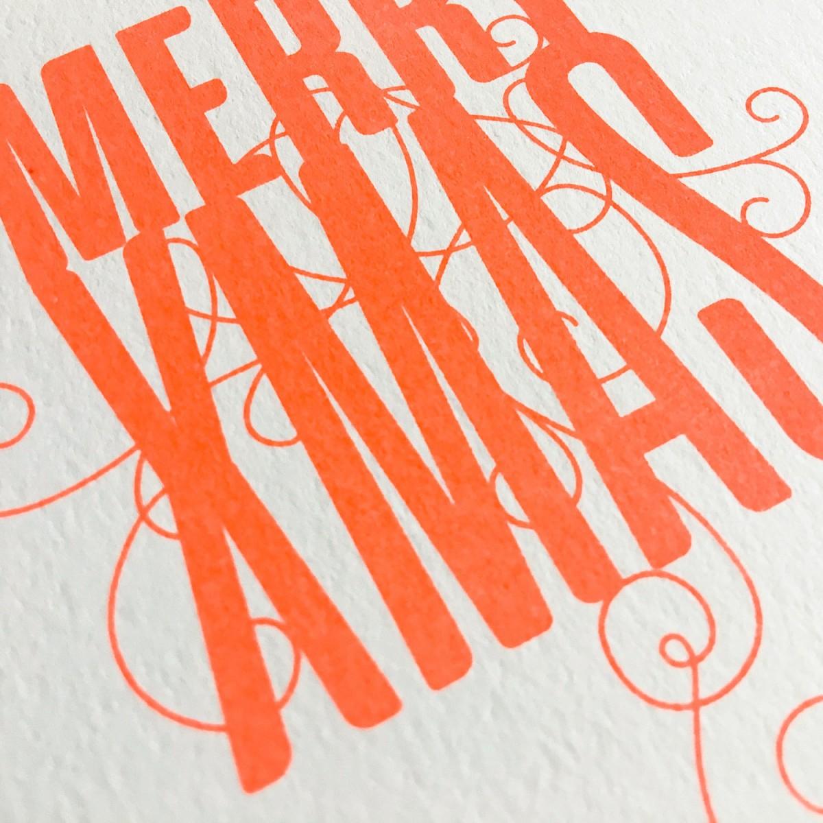 Feingeladen // FANCY TYPE // Merry Xmas (FO) // RISO-Klappkarte, A6