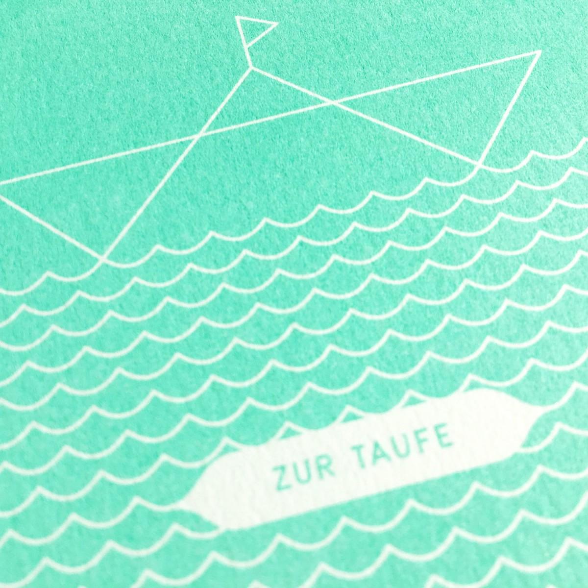 Feingeladen // ROUNDABOUT // Boot »Zur Taufe« (MI) Klappkarte, A6