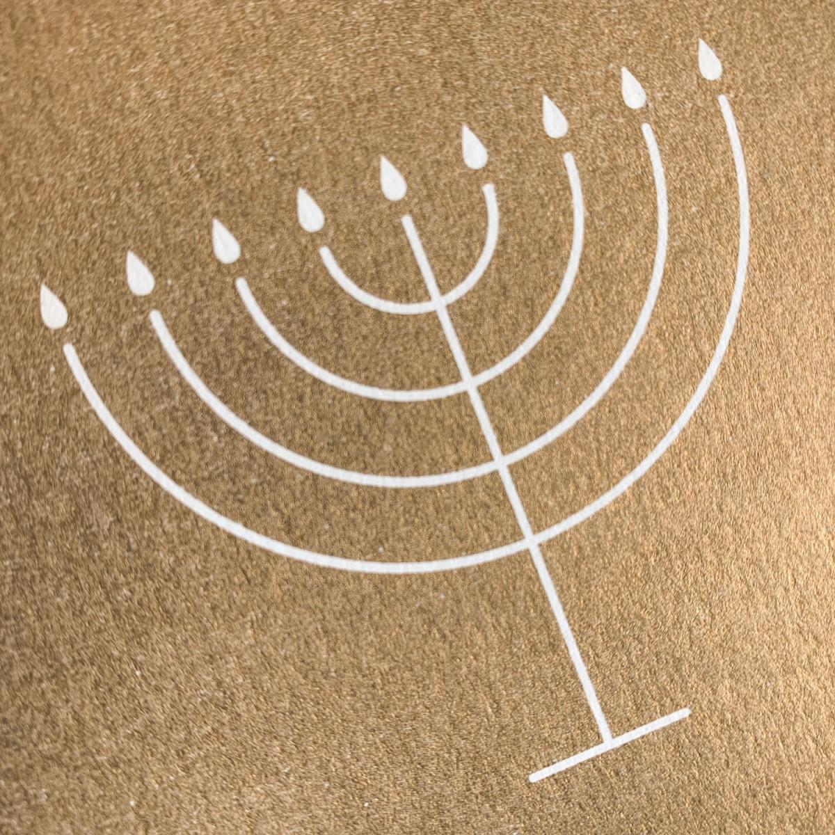 Feingeladen // SIMPLY DIVINE // Hanukkah »Light Love Peace« (GD) Klappkarte, A6