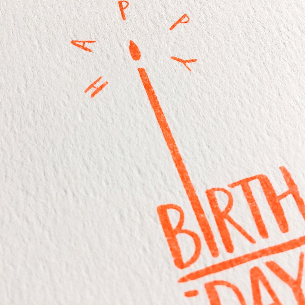 Feingeladen // TYPOGRAFICA // Happy Birthday (FO) Klappkarte, A6
